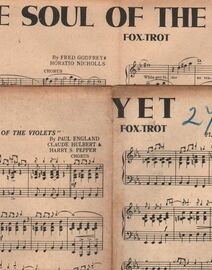 DANCE BAND with Vocals:- (a) YET- Fox-Trot  (b) The Soul of the Violets- Fox-Trot