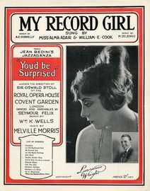 My Record Girl - Sung by Miss Alma Adair and William E. Cook in Jean Bedini's Jazzaganza