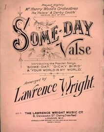 Some Day - Valse - And Introducing the Popular Songs