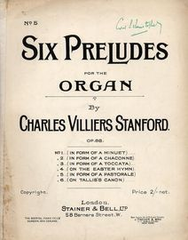 Charles Villiers Stanford Prelude (In Form of a Pastorale) - Op. 88 - Six Preludes for the Organ Series No. 5