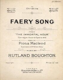 Faery Song -  from