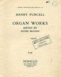 Purcell - Organ Works - Original Compositions (New Series) No. 294 Novello Edition
