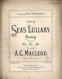 The Sea's Lullaby - Sung by Miss Wakefield
