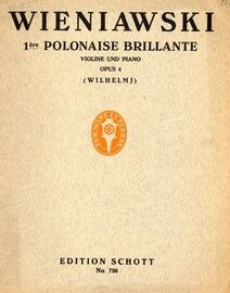 1re Polonaise Brillante - For violin and piano with seperate violin part