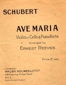 Ave Maria for violin and piano with seperate violin part