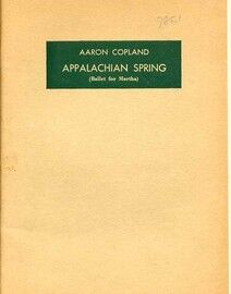 Copland - Appalachian Spring (Ballet for Martha) - Hawkes Pocket Orchestral Score
