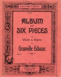 Album of Six Pieces for Violin and Piano - Edition Laudy Series of Albums for Violin and Piano No. 125