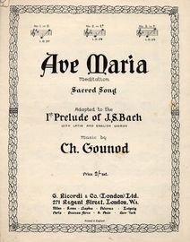 Ave Maria in F major - Meditation - Sacred Song Adapted to the 1st Prelude of J.S. Bach - with Latin and English Words