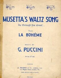 Musetta's Waltz Song (As Through the Street ) from La Boheme - in E major (Original) for High Voice