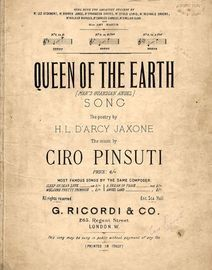 Queen of the Earth - Song - In the key of D major for low voice