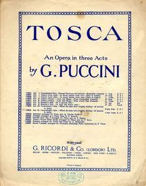 When the Stars were brightly shining (E lucevan le stelle) - The Letter Song - From the Opera Tosca - Act III - English and Italian text