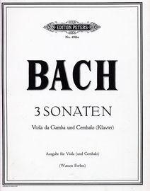 3 Sonaten - For Violin and Piano - Edition Peters No. 4286a