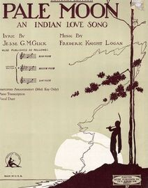 Pale Moon - An Indian Love Song - Key of A flat major for medium voice - Concert Edition