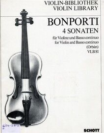 4 Sonaten for Violin and Basso Continuo (with piano accompaniment)