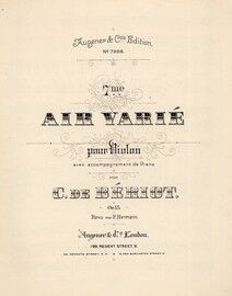7me - Air Varie - Op. 15 - For violin and piano with seperate violin part