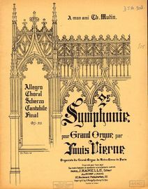 2re Symphonie pour Grand Orgue - Op. 20