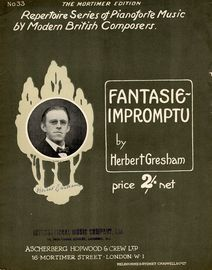 Fantasie-Impromptu - Repertoire Series of Pianoforte music by Modern British Composers No. 33
