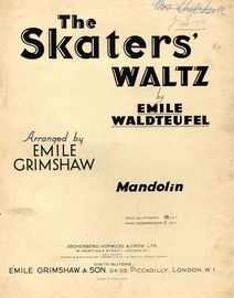 The Skaters' Waltz - For Mandolin Solo