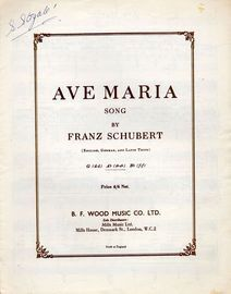 Ave Maria - Song in A flat - With German, English and Latin Texts