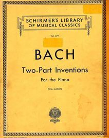 J S Bach - Two Part Inventions - Schirmer\'s Library of Musical Classics - Vol. 379