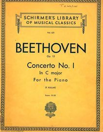 Concerto No. I in C major - Opus 15 - Schirmer's Library of Musical Classics - Vol. 621