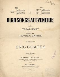 Bird Songs at Eventide - Vocal Duet No. 1 for Soprano and Tenor