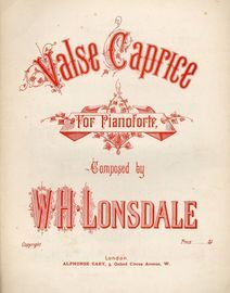 Valse Caprice for Piano
