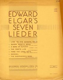 Edward Elgar's 7 Lieder -  For Low Voice