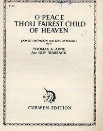 O Peace Thou Fairest Child of Heaven - Song for Piano and Voice