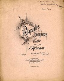Rhapsodie Hongroises - Pour Piano - No. 1 in D flat minor