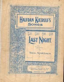 Halfdan Kjerulf's Songs -  Last Night  - In the key of G major