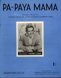 Pa-Paya Mama - Recorded on H.M.V. BIO595 by Perry Como