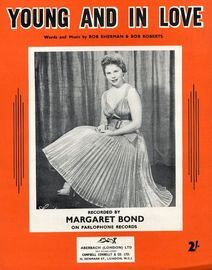 Young and in Love - Recorded by Margaret Bond on Parlophone Records - For Piano and Voice with chord symbols