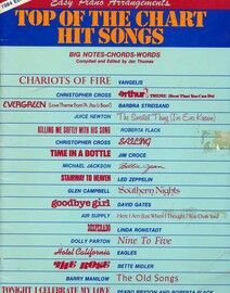 Top of the Chart Hit Songs - Easy Piano Arrangements (with words) - 1984 Edition