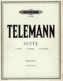 G P Telemann - Suite in A minor for flute and piano
