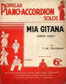 Mia Gitana (Gypsy Love) - Popular Accordion Solos Series