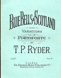 Blue Bells of Scotland with Variations for pianoforte