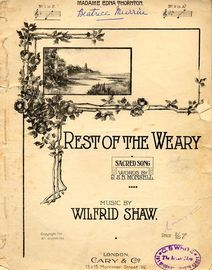Rest of the Weary - Sacred Song - No.1 in F for Low Voice