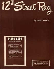 12th Street Rag - Piano Solo