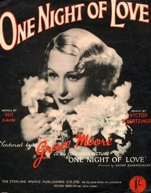 One night of Love, featuring Grace Moore