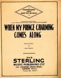 When My Prince Charming Comes Along - From the Paramount picture 'All the King's Horses' - Professional copy