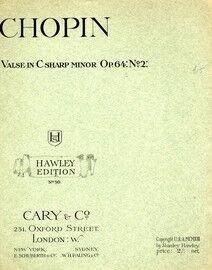 Chopin - Valse in C sharp minor - Opus 64, No. 2