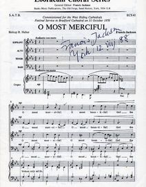 O Most Merciful - Choral for S.A.T.B and Organ - Comissioned for the West Riding Catherdrals Festival Service in Bradford Cathedral 31 October 1970