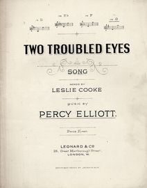 Two Troubled Eyes - Song - In the key of G major for high voice
