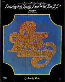Does Anybody Really Know What Time It Is - Recorded by Chicago Transit Authority