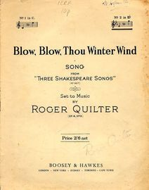 Blow Blow Thou Winter Wind - Song from