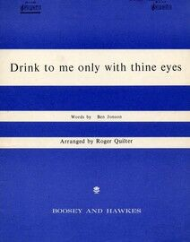 Drink To Me Only With Thine Eyes - Key of E flat major for low voice