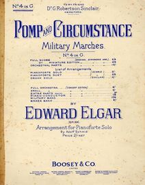Pomp and Circumstance - Military March No. 4 - Op. 39 in G major