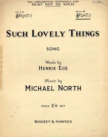 Such Lovely things - Song - In the key B flat major for high voice