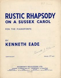 Rustic Rhapsody on Sussex Carol - For the Pianoforte